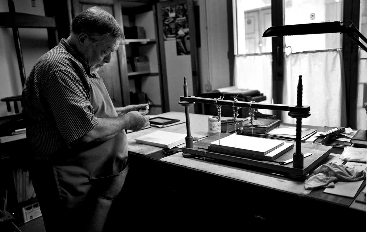 Enrico Giannini in his workshop