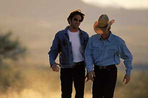 Levis Bootcut, 2 guys in desert-Arizona-James O'Mara