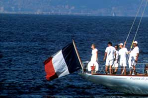 French Flag on Sailboat-Cote d' Azur-James O'Mara